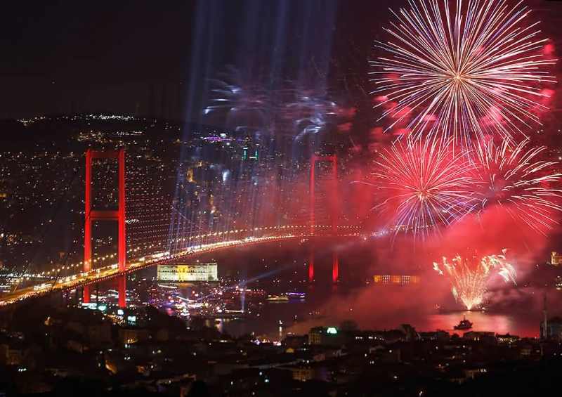 Beautiful-Fireworks-Over-The-City-During-Turkey-Republic-Day-Celebration